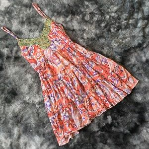Free People Lilian Floral Embellished Tank Dress